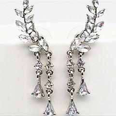 Női Klipszes fülbevalók luxus ékszer jelmez ékszerek Gyöngyutánzat Strassz Hamis gyémánt Ötvözet Ékszerek Kompatibilitás Parti Napi