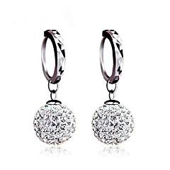 Kolczyki na sztyft Kolczyki z piłką Kolczyk Klasyczny Srebro standardowe Cyrkonia Imitacja diamentu Owalne Silver Biżuteria NaŚlub