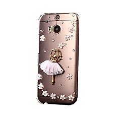Pour Coque HTC Strass Transparente Coque Coque Arrière Coque Brillant Dur Polycarbonate pour HTC