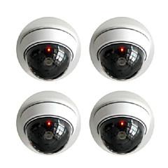 kingneo 2stk hvid trådløs falske dummy dome CCTV sikkerhed kamera med blinkende rødt LED lys til hus eller kontor indkøbscenter