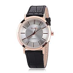 Masculino Relógio de Pulso Quartzo PU Banda Casual Preta / Marrom marca