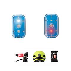 Polkupyörän etuvalo Polkupyörän jarruvalo turvavalot Pyöräily ladattava Pienikokoiset Helppo kantaa Lumenia USB Vaihtuva väri