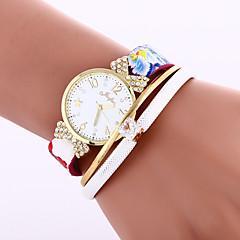 Women's Bracelet Watch Quartz PU Band Black White Blue Red Brand