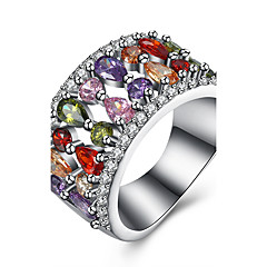 Ring AAA Cubic Zirconia Halloween Wedding Party Daily Casual Sports Jewelry Zircon Copper Titanium Steel WomenRing Engagement Ring Midi