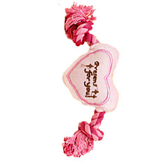 강아지 장난감 반려동물 장난감 플러시 장난감 Heart 핑크 스펀지