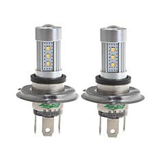 Zweihnder H4 15W 1450lm 6000-6500K 15x2323 SMD LED White Light Bulb for Car Foglight (10-30V,2 Pieces)