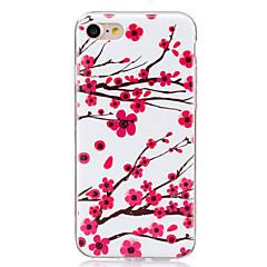 Varten Hehkuu pimeässä / IMD Etui Takakuori Etui Kukka Pehmeä TPU varten AppleiPhone 7 Plus / iPhone 7 / iPhone 6s Plus/6 Plus / iPhone