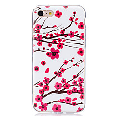 For Lyser i mørket / IMD Etui Bagcover Etui Blomst Blødt TPU for AppleiPhone 7 Plus / iPhone 7 / iPhone 6s Plus/6 Plus / iPhone 6s/6 /