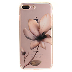 Para IMD Transparente Estampada Capinha Capa Traseira Capinha Flor Macia TPU para AppleiPhone 7 Plus iPhone 7 iPhone 6s Plus/6 Plus