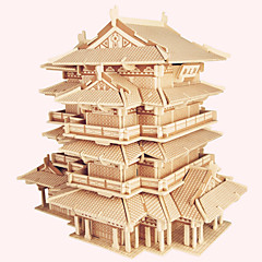 Jigsaw Puzzles Wooden Puzzles Building Blocks DIY Toys Tengwang Pavilion 1 Wood Ivory Model & Building Toy