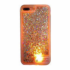 Mert tokok Folyékony LED Áttetsző Hátlap Case Szív Puha TPU mert AppleiPhone 7 Plus iPhone 7 iPhone 6s Plus iPhone 6 Plus iPhone 6s