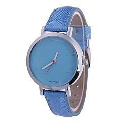 Women's Fashion Watch Wrist watch Quartz PU Band Black Blue Red Brown Pink