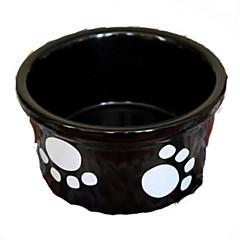 Pies Podajniki Pokarmu Zwierzęta domowe Miski i Żywienie Odblaskowy Czarny Ceramika