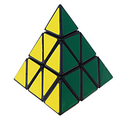 Lelut Tasainen nopeus Cube pyraminx Professional Level Rubikin kuutio Musta Fade Smooth Tarra Anti-pop säädettävä jousi ABS