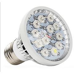 12W E14 GU10 E26/E27 LED Grow Lights 12 High Power LED 290-330 lm Natural White UV (Blacklight) Red Blue AC 85-265 V 1 pcs