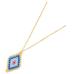 Necklace Pendant Necklaces Jewelry Birthday Daily Geometric Crystal Women 1pc Gift Sky Blue Yellow Gold