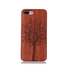 For Stødsikker Præget Mønster Etui Bagcover Etui Træ Hårdt Træ for AppleiPhone 7 Plus iPhone 7 iPhone 6s Plus/6 Plus iPhone 6s/6 iPhone
