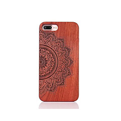 For Shockproof Embossed Pattern Case Back Cover Case Mandala Hard Rosewood for Apple iPhone 7 7 Plus 6s 6 Plus SE 5s 5