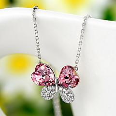 Vedhæng Krystal Firkløver Sølv Enkelt design Blomster Mode Smykker Til Daglig