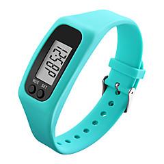 Hombre Mujer Reloj Deportivo Reloj de Pulsera Reloj digital Digital LCD Podómetro Colorido Caucho Banda CoolNegro Blanco Azul Verde