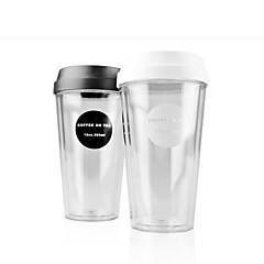 Transparant Klassiek Gaan Glazen en bekers, 420 ml Draagbaar BPA gratis Kunststof Naakt Water Tuimelaar