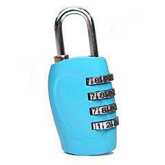 1 Pça. Cadeado para Mala Cadeado com Código Prova de Água Portátil para Acessório de Bagagem Liga de Zinco-Preto Prata Rosa Azul