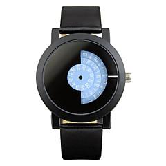 Unisex Modeur Unik Creative Watch Quartz Legering Bånd Sort
