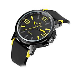 Męskie Damskie Uniseks Sportowy Wojskowy Modny Zegarek na nadgarstek Kwarcowy Silikon Pasmo Postarzane Na co dzień Wielokoloroe Marka