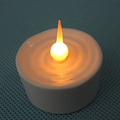 1LED Candle LightWarm White LEDWith CR2032 In The bottom.6 PCS For One Set.