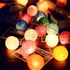 2.5m 20leds rotin chaîne de boule de guirlandes fête de mariage décoration utilisation chaude fée lumière colorée décoration de jardin