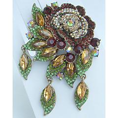 kvinder tilbehør guld-tone topas rhinestone krystal broche art deco broche bouquet kvinder smykker