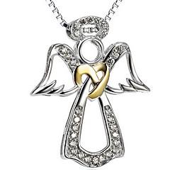 Naisten Riipus-kaulakorut Korut Yksinauhainen Korut Sterling-hopea Gold Plated TimanttijäljitelmäYksinkertainen Love Vintage ylellisyyttä