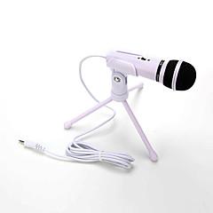 şok sıcak satış ses ses kayıt kapasitif mikrofon düğmesi 3.5mm aux girişi cep telefonu mikrofon kilitleme tutucu klibi montaj