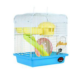 Rodents Cages Plastic Red Blue Brown Yellow