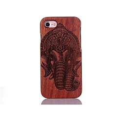 For Stødsikker Præget Mønster Etui Bagcover Etui Elefant Hårdt Træ for AppleiPhone 7 Plus iPhone 7 iPhone 6s Plus/6 Plus iPhone 6s/6