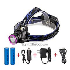 U'King Hoofdlampen LED 2000 Lumens 3 Modus Cree XM-L T6 Ja Verstelbare focus Compact formaat Gemakkelijk draagbaar Hoog vermogen