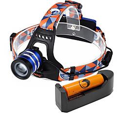 Fejlámpák LED 2000 Lumen 3 Mód Cree XM-L T6 18650 Állítható fókuszKempingezés/Túrázás/Barlangászat Mindennapokra Kerékpározás Vadászat