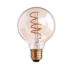 4W B22/E27  LED Soft Filament Bulbs G80 COB 400 lm Warm White Dimmable AC 220-240 AC 110-130 V