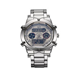 Relógio de Moda Relogio digital Quartzo Digital Lega Banda Casual Prata Prata Azul Escuro Cinzento