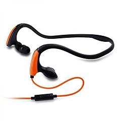 nieuwste mode-sport running headset van hoge kwaliteit nekband in het oor stijl waterdichte sweatproof koptelefoon met microfoon microfoon