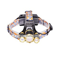Otsalamput LED 6000 Lumenia 3 Tila Cree XM-L T6 18650 Säädettävä fokus Kompakti kokoTelttailu/Retkely/Luolailu Päivittäiskäyttöön