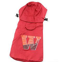 Pies Płaszcz przeciwdeszczowy Ubrania dla psów Codzienne Sportowe W stylu brytyjskim Brown Czerwony Różowy