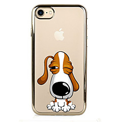 For Plating Case Back Cover Case Dog Soft TPU for IPhone 7 7Plus iPhone 6s 6 Plus iPhone 6s 6 iPhone 5s 5 5E 5C