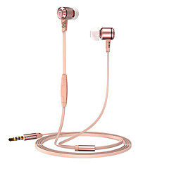 Langsdom M410 Metal Heavy bass headphones with mircophone Thread line stereo music earphone for iphone samsung huawei xiaomi