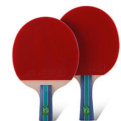 2 αστέρια Ping Pang/Πινγκ πονγκ Ρακέτες Ping Pang Καοτσούκ Κοντή Λαβή Σπυράκια