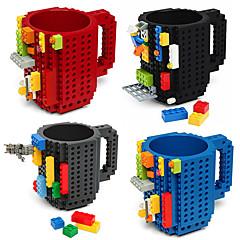 drinkware rakennuspalikat mukeja diy block palapeli muki caneca build-on tiili kuppi tyyppi kahvimukki