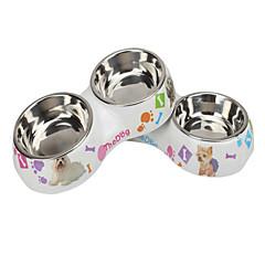 Gatto Cane Ciotole & Bottiglie Animali domestici Ciotole e alimentazione Ompermeabile Multicolore Acciaio Inox