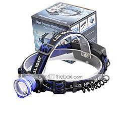 Fejlámpák LED 2000 Lumen 3 Mód Cree XM-L T6 18650 Állítható fókusz Kompakt méretKempingezés/Túrázás/Barlangászat Mindennapokra
