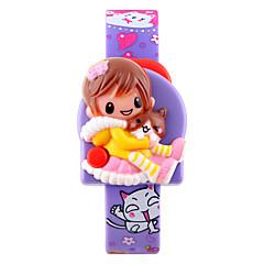 Kids' Fashion Watch Digital Watch Wrist watch LCD Calendar Digital Rubber Band Cartoon Pink Purple Strap Watch