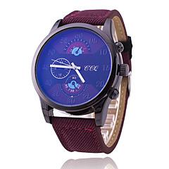 Heren Sporthorloge Modieus horloge Kwarts Stof Band Cool Vrijetijdsschoenen Zwart Blauw BruinZwart Donkerblauw Bruin Donker-Bruin